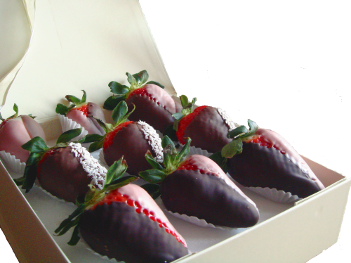 24 Mother's Day Hand-dipped strawberries